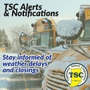 Stay informed of weather delays and closings